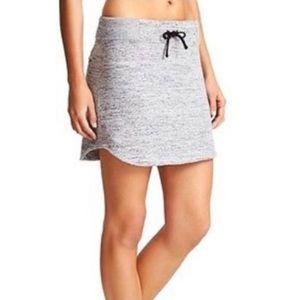 Athleta Downplay Skirt Grey Space dye Athletic